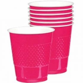 Bright Pink Plastic Cups 355ml 20pk