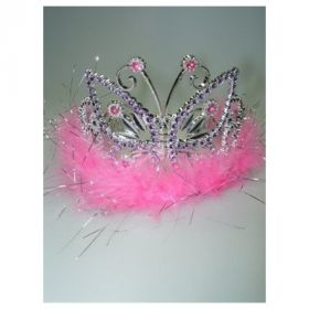 Tiara Butterfly Tiara with Feathers