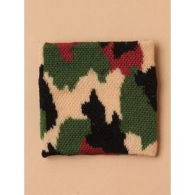 Boys Camouflage Knitted Wristband