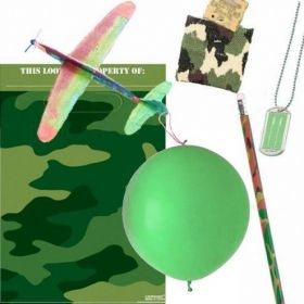 Camouflage Army Theme Filled Party Bags (no. 1), one supplied