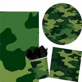 Camouflage Party Tableware Pack for 8