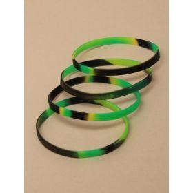 Camouflage Silicone Bracelets, pk4