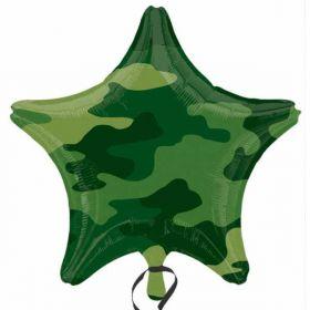 Camouflage Army Theme Foil Balloon