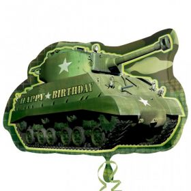 Camouflage Birthday Army Tank SuperShape Foil Balloon