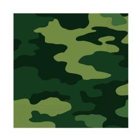 Camouflage Party Napkins pk16