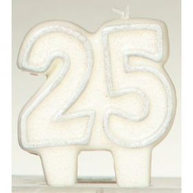 25 Anniversary / Birthday Candle with Glitter