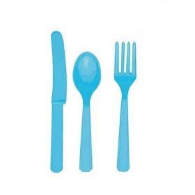 Caribbean Blue Cutlery Set for 8