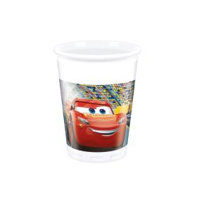 Disney Cars 3 Party Cups 200ml, pk8