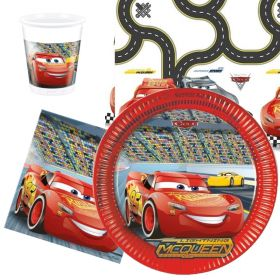 Cars 3 Party Tableware Pack for 8