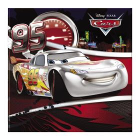 Disney Cars Silver Party Napkins 33cm x 33cm, pk20