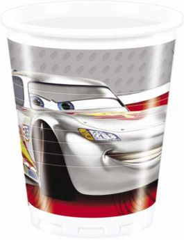 Disney Cars Silver Party Cups pk8