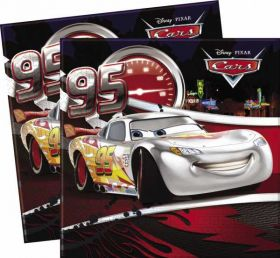 Disney Cars Silver Party Napkins pk20