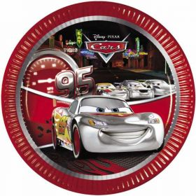 Disney Cars Silver Party Plates pk8 23cm