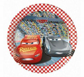 Disney Cars 3 Paper Party Plates 20cms pk8