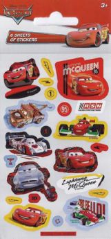 Disney Cars Sticker Sheet Pk6