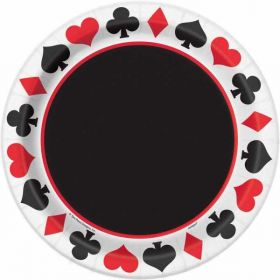 Casino Party Plates pk8