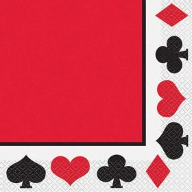 Casino Party Napkins pk16