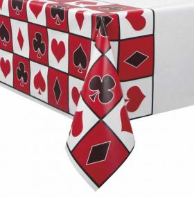 Casino Party Plastic Tablecover