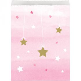 One Little Star - Girl Paper Treat Bags pk10