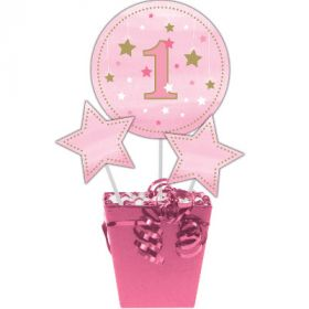 One Little Star - Girl Centrepiece Sticks pk3