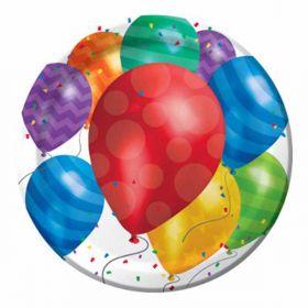 Balloon Blast Party Plates pk8