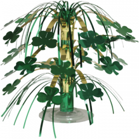 St. Patricks Day Shamrock Mini Cascade Centrepiece