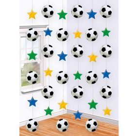 Champion Soccer Party String Decorations 7ft, pk6