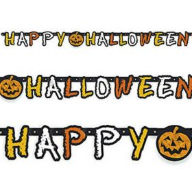 Checkered Halloween Jointed Party Banner 1.6m