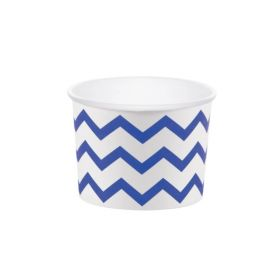 Chevron Stripe Paper Treat Cups Blue