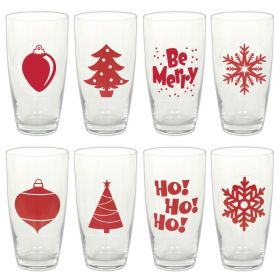 Christmas Beverage Cling Markers