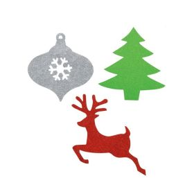 Christmas Assorted Mini Glitter Cut-outs, pk6