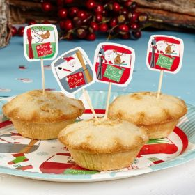 Festive Fun Mince Pie Picks, pk20