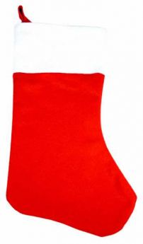 Christmas Red & White Stocking