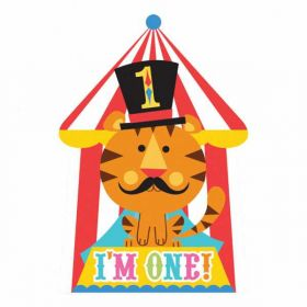 1st Birthday Circus Party Invitations, 8pk