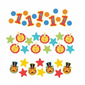 1st Birthday Circus Party Confetti, Triple Pack