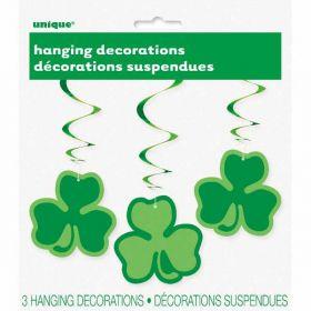 St. Patrick's Day Clover Hanging Swirls pk3