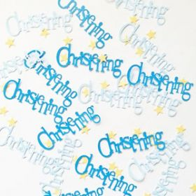 Christening Blue Bunting Party Confetti