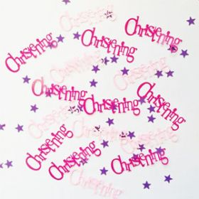 Christening Pink Bunting Party Confetti