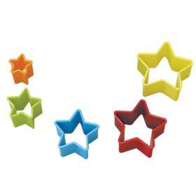 Star Multi Coloured Plastic Cookie Cutters, pk5