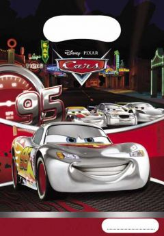 Disney Cars Silver Plastic Party Bags pk6