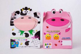 Pig & Cow Party Food Boxes pk2