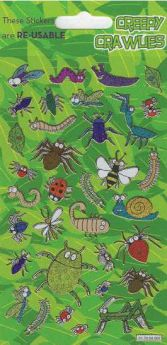 Creepy Crawlies Re-usable Stickers