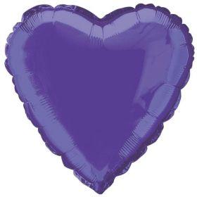 Dark Purple Heart Foil Balloon