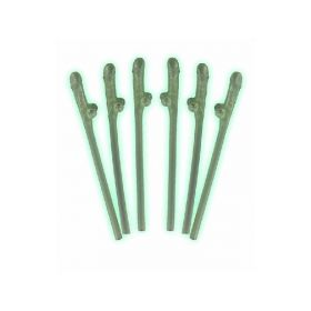Glow in the Dark Willy Straws pk6