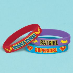 DC Super Hero Girls Rubber Bracelets pk6