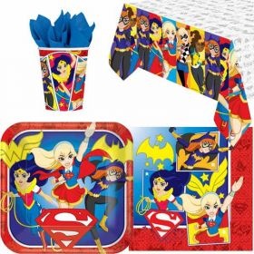 DC Super Hero Girls Party Tableware Pack for 8