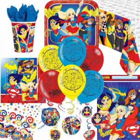 DC Super Hero Girls Ultimate Party Supplies Kit for 8