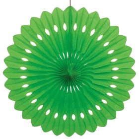 Decorative Fan Lime Green Party Decoration 16""