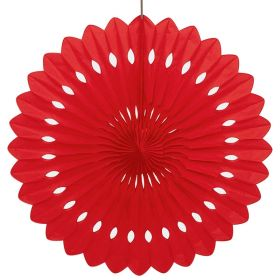 Decorative Fan Red Party Decoration 16""