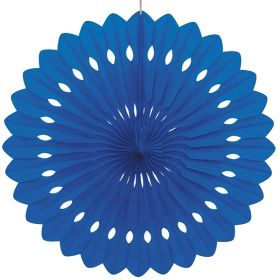 Decorative Fan Royal Blue Party Decoration 16""